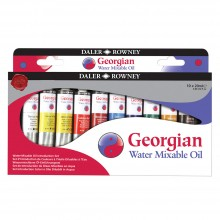 Daler Rowney : Georgian Water Mixable Oil Paint Introduction Set : 20ml : Set Of 10
