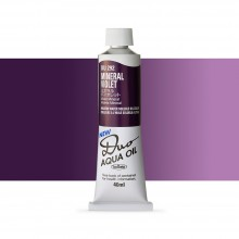 Holbein : Duo Aqua : Watermixable Oil Paint : 40ml : Mineral Violet