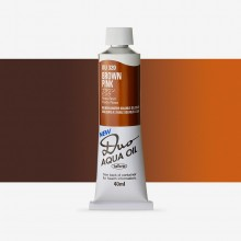 Holbein : Duo Aqua : Watermixable Oil Paint : 40ml : Brown Pink (Caramel)