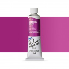 Holbein : Duo Aqua : Watermixable Oil Paint : 40ml : Luminous Violet