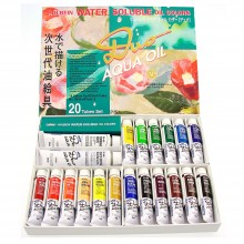 Holbein : Duo Aqua : Watermixable Oil Paint : 20ml : Set of 20