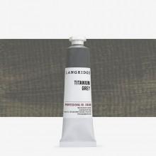 Langridge : Oil Paint : 40ml : Titanium Grey