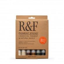 R&F : Pigment Stick Set : 38ml : Earth Tones Set : 6 Colours