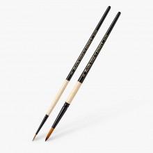 Dynasty : Black Gold Brushes : Round