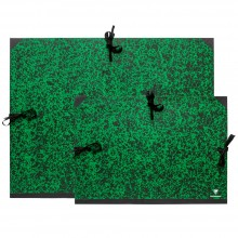 Clairefontaine : Green Marbled Folders : With Ties