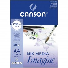 Canson : Imagine Multimedia Pad : 200gsm : 50 Sheets : A4