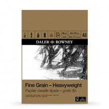 Daler Rowney : Fine Grain : Heavyweight Cartridge Pad : 200gsm : 30 Sheets : A3