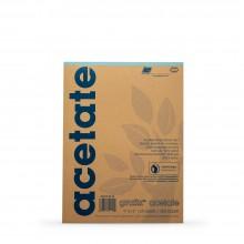 Grafix : Clear Acetate Pad 9x12in .003in : 25 Sheets