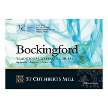 Bockingford : Glued Pad : 5x7in : 300gsm : 12 Sheets : Not surface