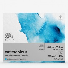 Winsor & Newton : Classic : Watercolour Paper : Gummed Pad : 300gsm : 12 Sheets : Cold Pressed : 16x20in