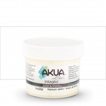 Akua : Intaglio Ink : 2oz : 59ml : Titanium White