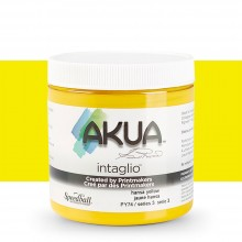 Akua : Intaglio Ink : 8oz : 236ml : Hansa Yellow