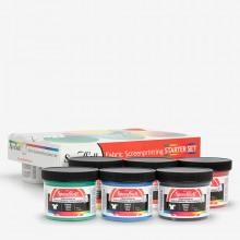 Speedball : Screen Printing Textile Ink Starter Set of 6x4oz (118ml) Jars