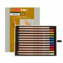 Bruynzeel : Design : Pastel Pencil : Box of 12 : Assorted Colours