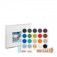 PanPastel : Sky, Lands & Sea With Les Darlow : Set of 20 Colours : Plus Tools