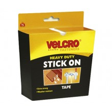 Velcro : Heavy Duty Tape : 2 x 5x10cm Strips : White