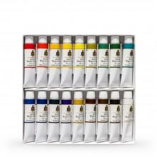 Turner : Artist's Watercolour Paint : 15ml : Set of 18 Colours