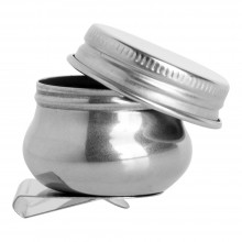 Studio Essentials : Single Artist Dipper and Lid : 1.5in Diameter : Clips On To Palette