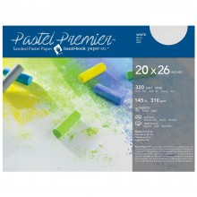 Global : Pastel Premier : Sanded Pastel Paper : Fine Grit : 20x26in : Pack of 10 : White