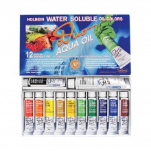 Holbein : Duo Aqua : Watermixable Oil Paint : 20ml : Set of 12 : AP Colours
