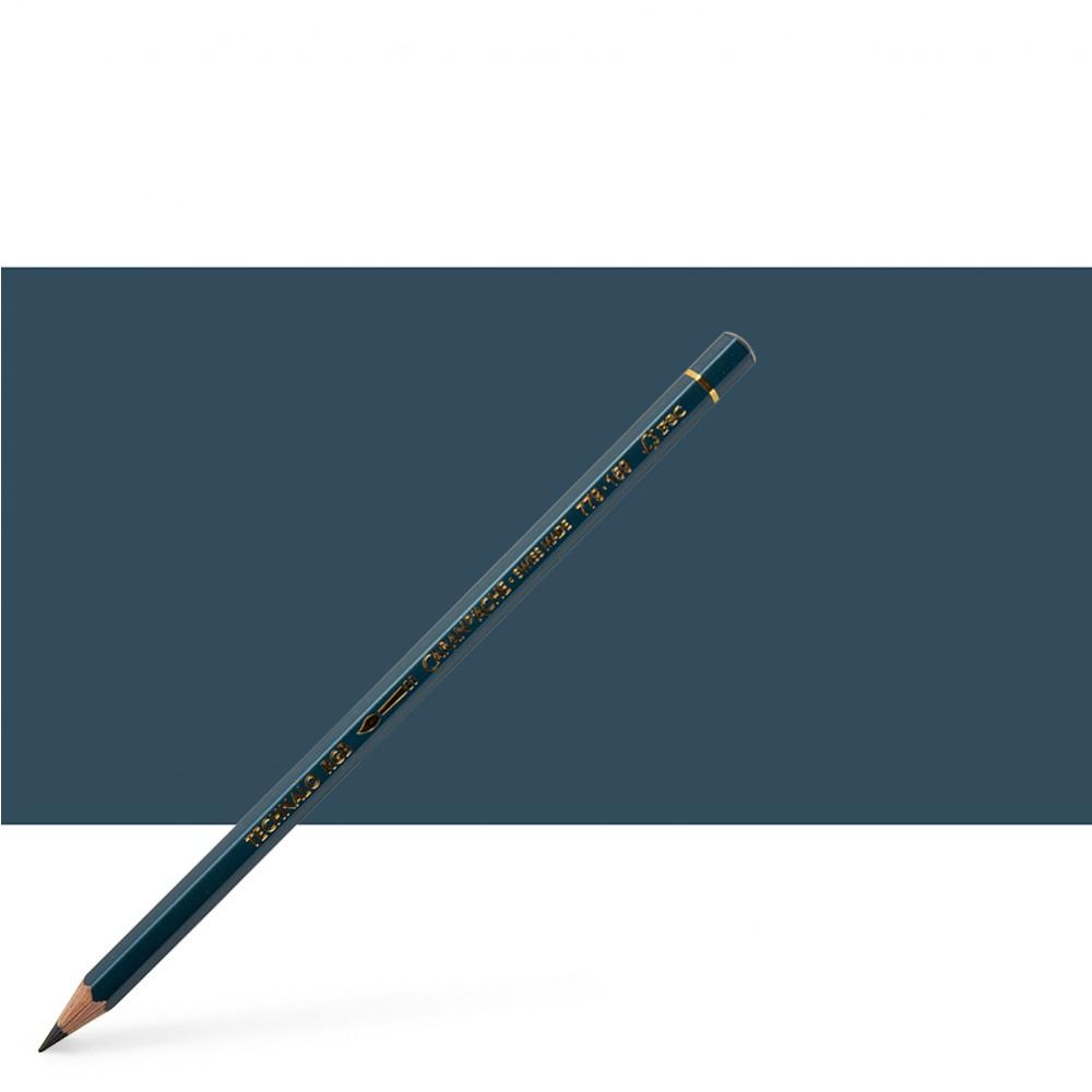 Caran d'Ache : Technalo : Watersoluble Graphite Pencil : Prussian Blue