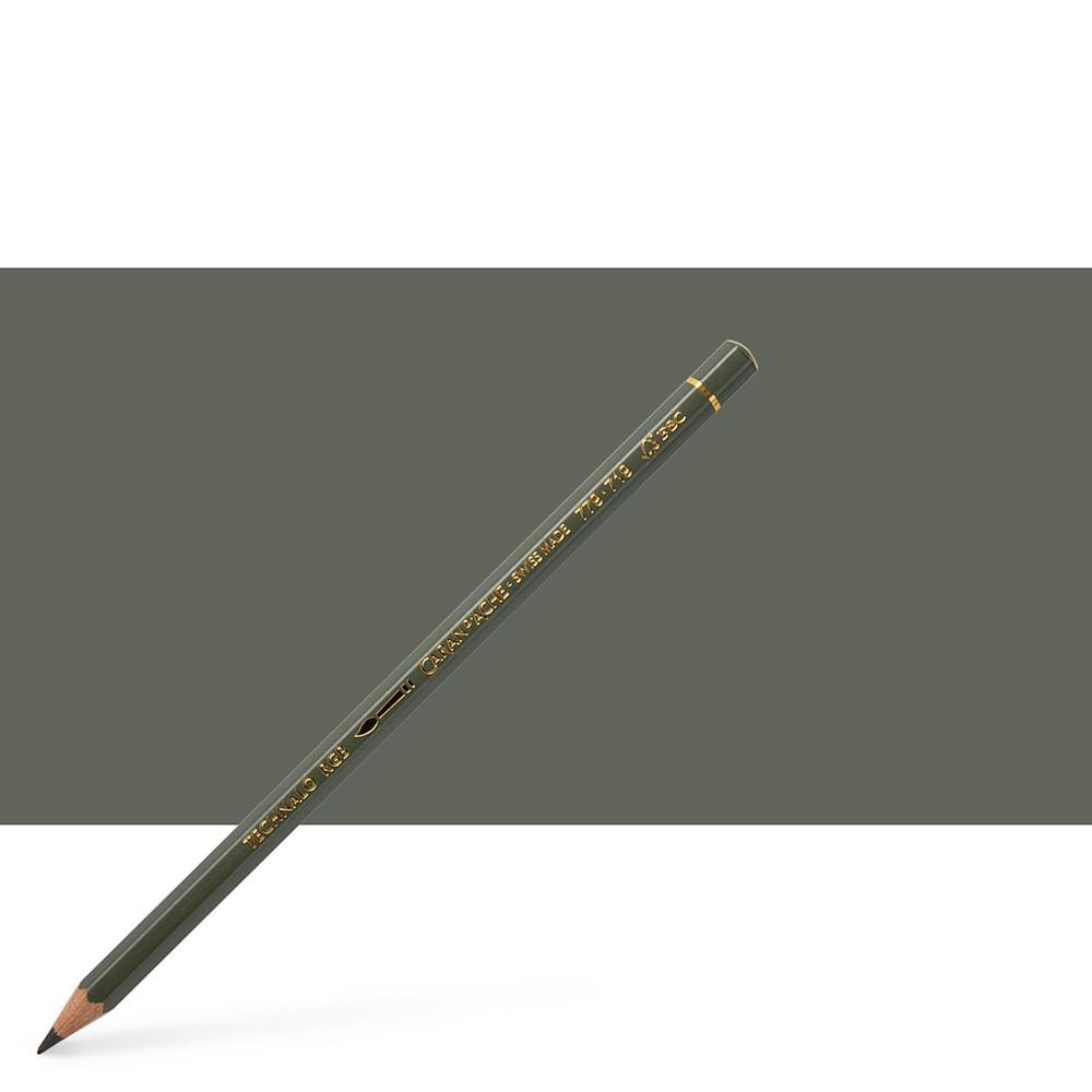 Caran d'Ache : Technalo : Watersoluble Graphite Pencil : Dark Phthalo Green