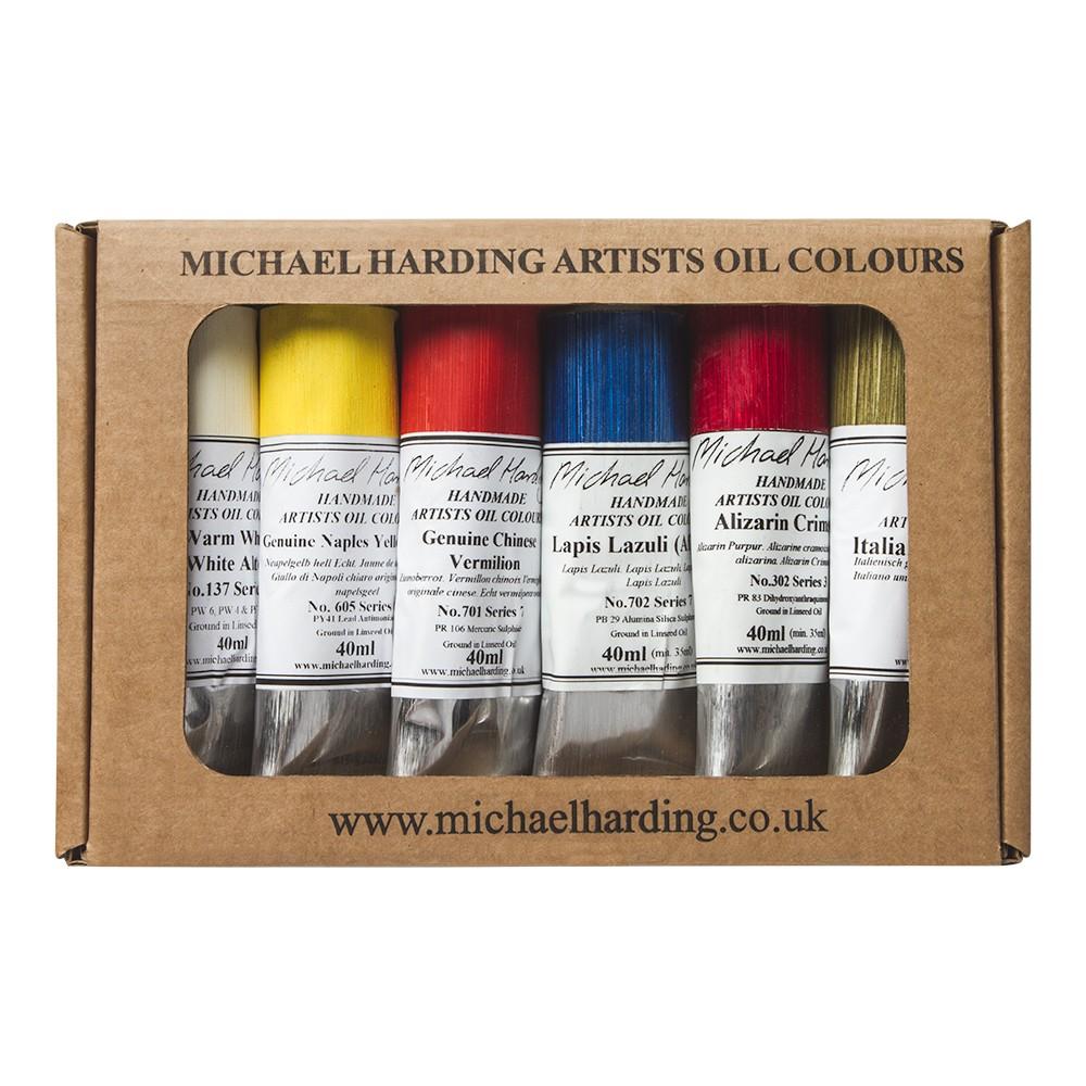 Michael Harding : Oil Paint : Masters Set (Portrait Set II Lead Free) : 6x40ml