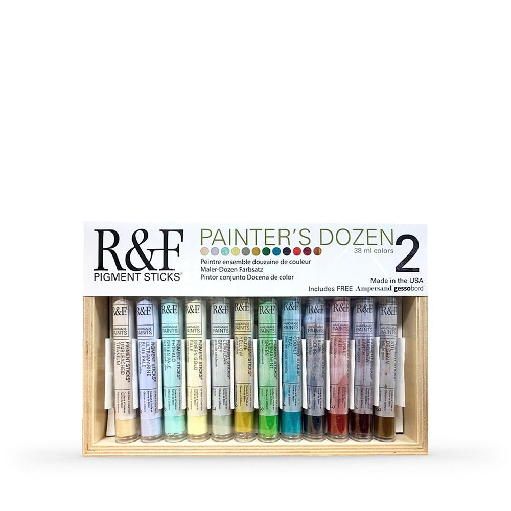 R&F : Pigment Stick Set : 38ml : Painters Dozen Set 2 : 12 Colours