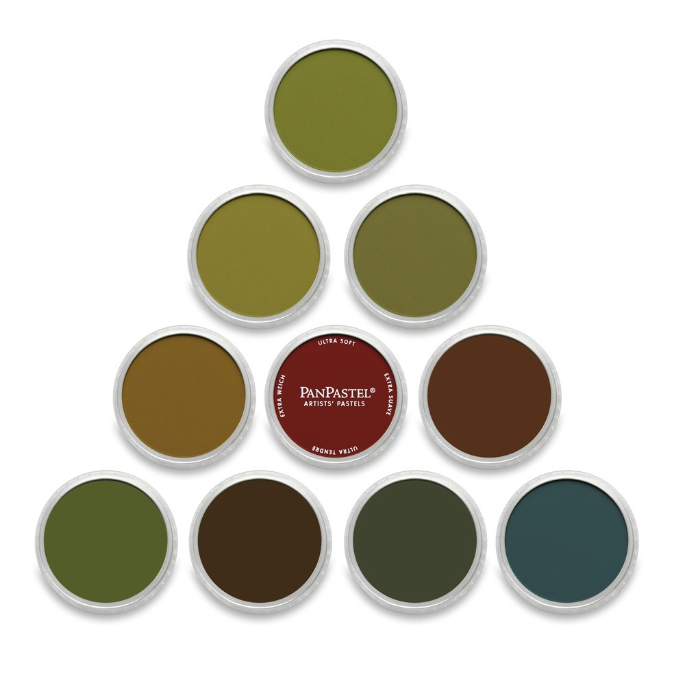 PanPastel : Set : Extra Dark Warm : 10 Colors