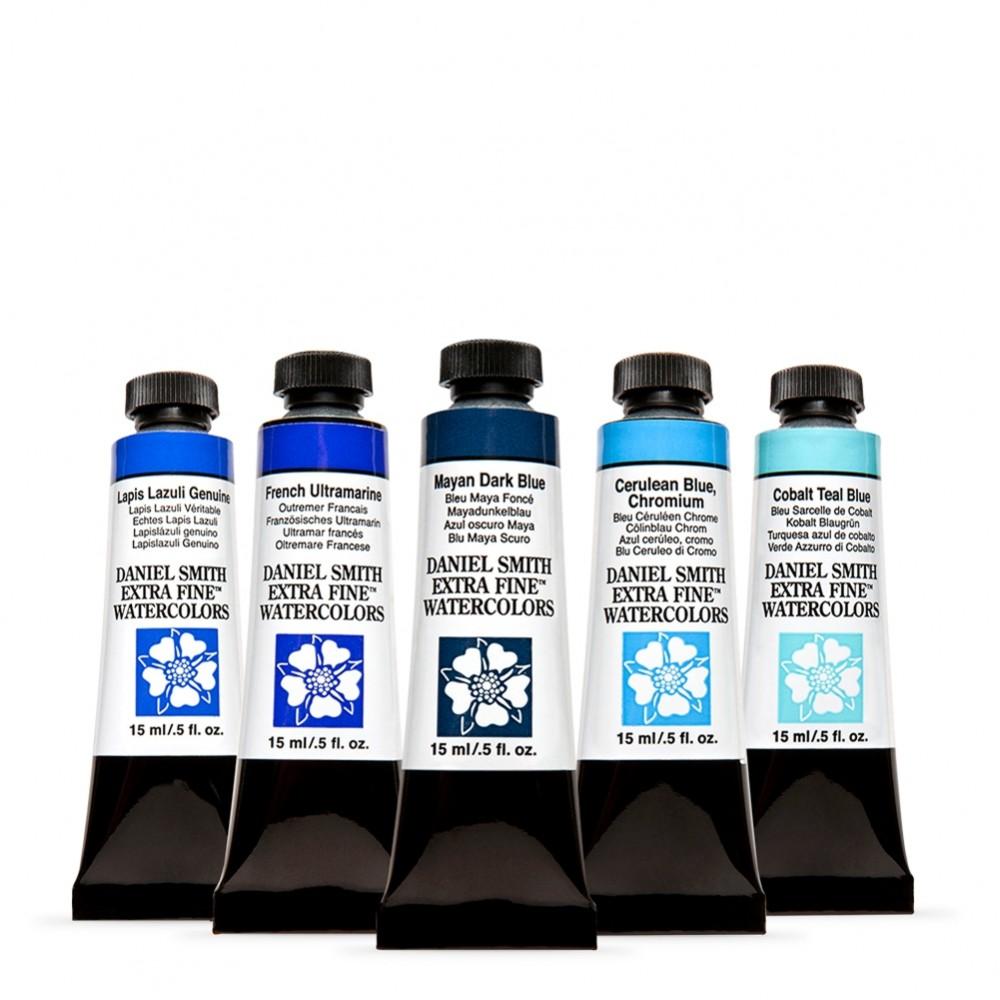Daniel Smith : Watercolor Paint : Jean Haines Blues Set : 15ml : Set of 5