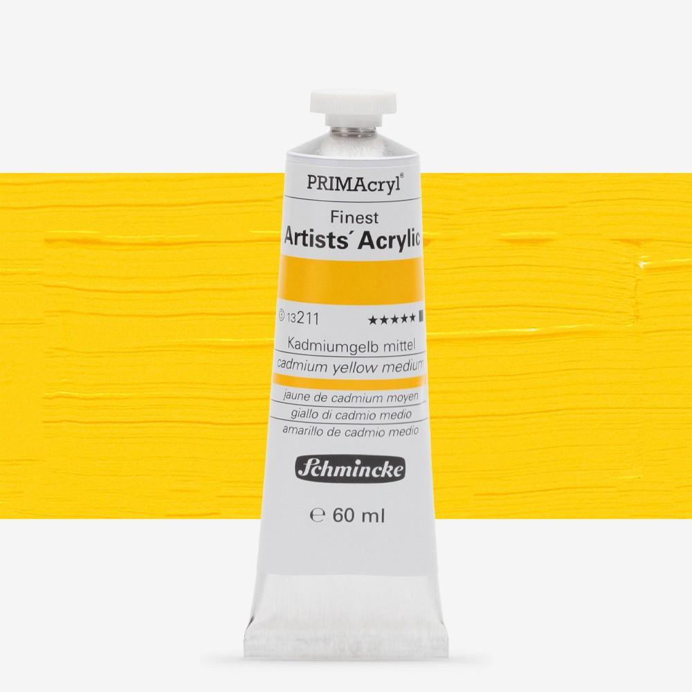 9de2dac1cae6 Schmincke   Primacryl Acrylic   60ml   Cadmium Yellow Medium ...