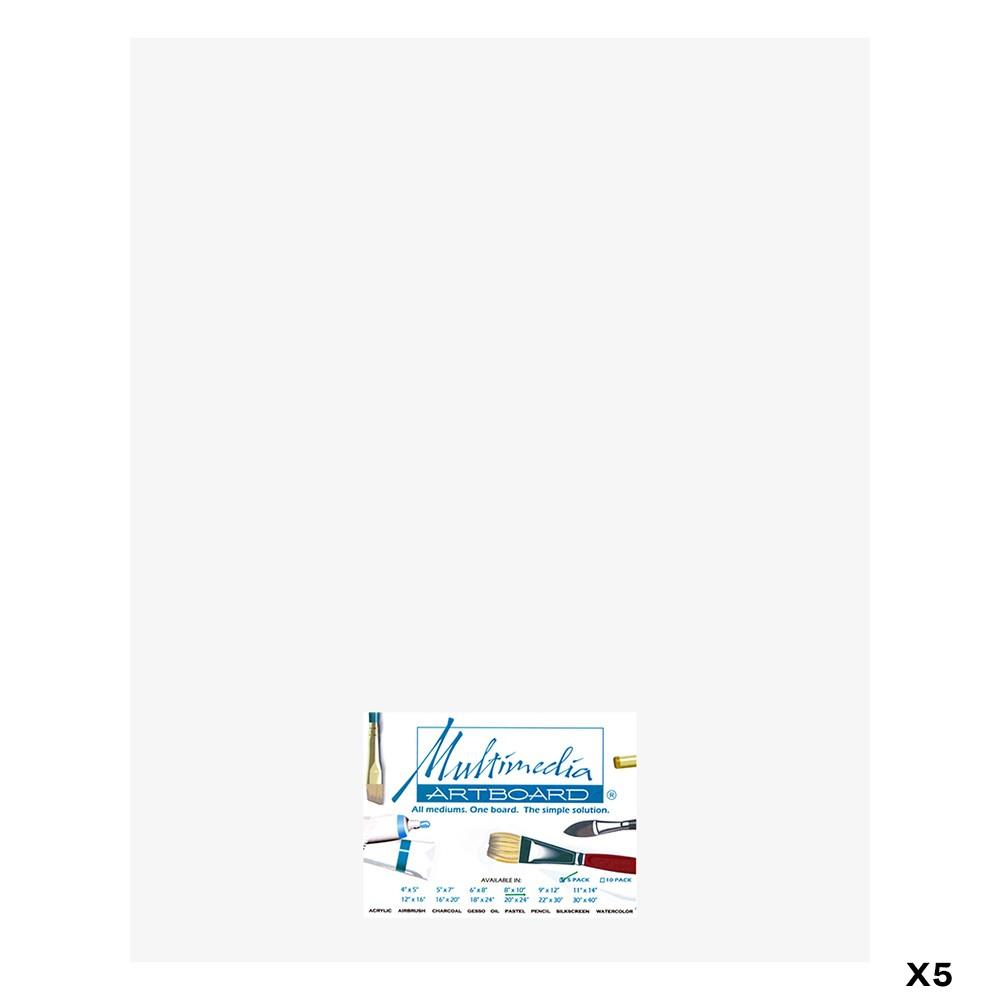 Multimedia Artboard : Artist Panel : 0.8 mm : 5 Pack : 16x20in : White