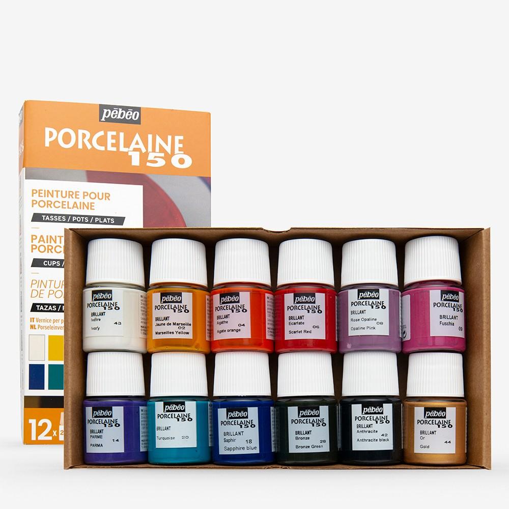 Peinture Pour Lave Vaisselle pebeo : porcelaine 150 discovery set 12 x 20ml