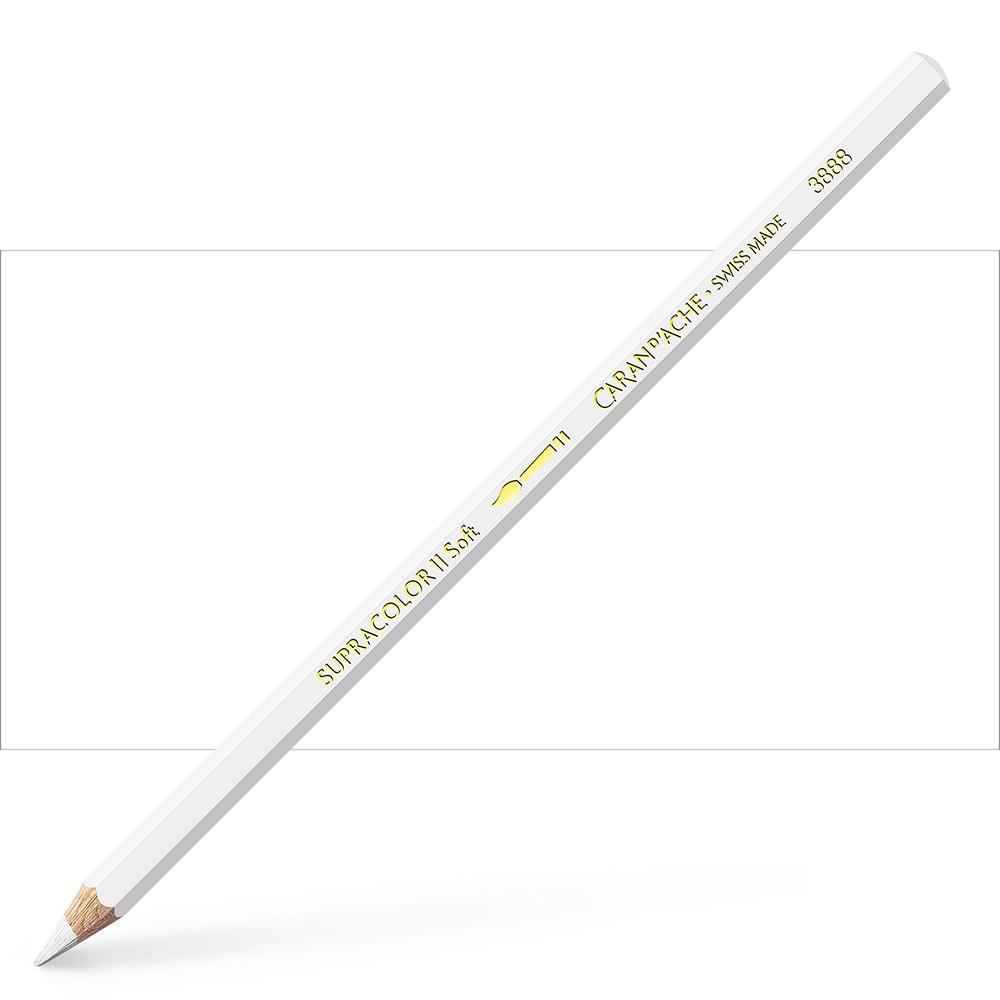 Caran d'Ache : Supracolor Soft : Watersoluble Pencil : White