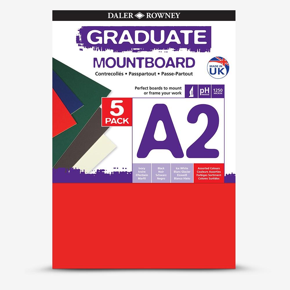 Daler Rowney A2 Graduate Mount Board Pack of 5 Ivory