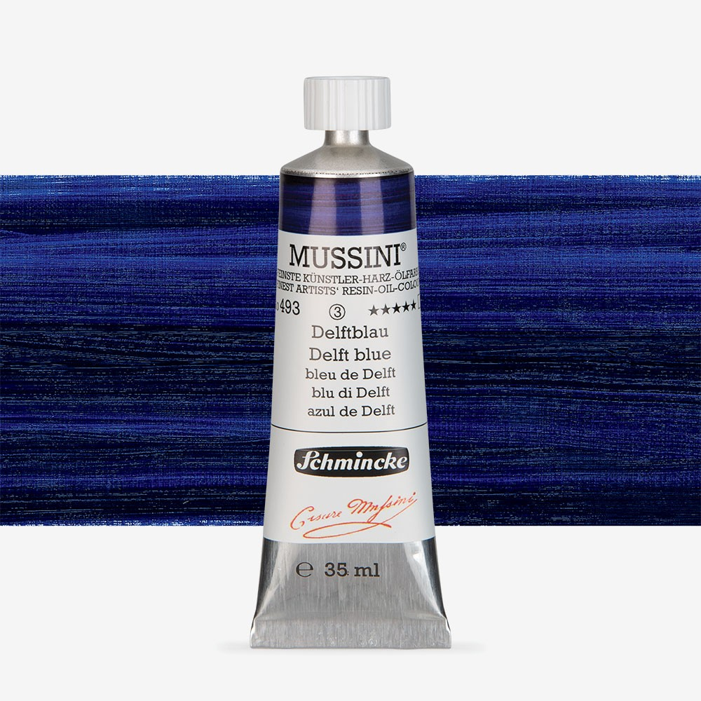 Schmincke Mussini Oil Paint 35ml Delft Blue Jackson S Art Supplies
