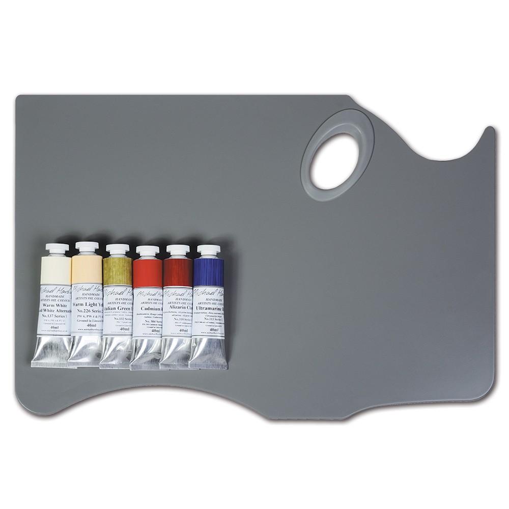 Michael Harding : Modern Master Oil Paint Set 6x40ml and New Wave Avant-Garde Highland Palette : Held in Left Hand