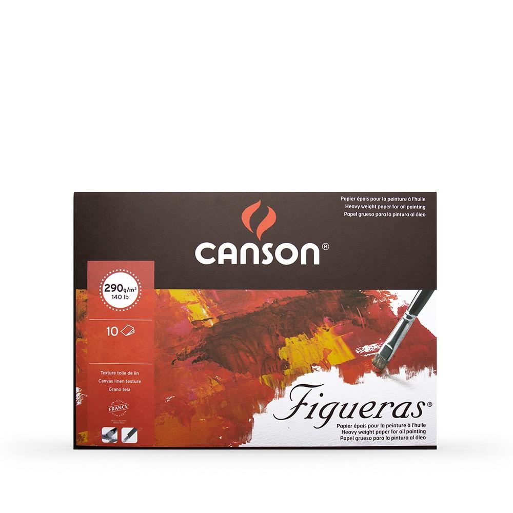 Papier A Peindre Epais canson : figueras : oil & acrylic paper : pad : 38x46cm : 15x18in : canvas  texture