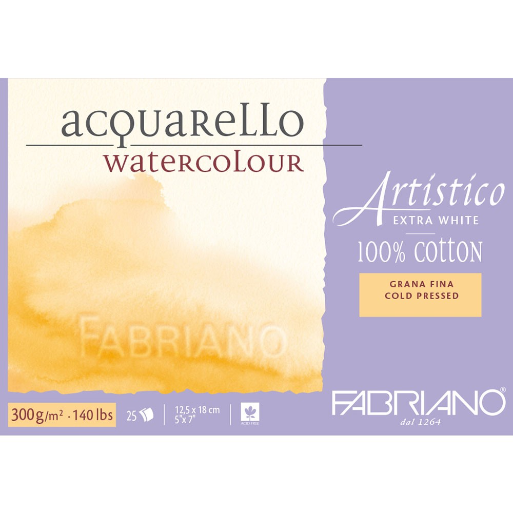 1 x Fabriano Artistico Watercolour Paper 300gsm 140lbs NOT Full Imperial