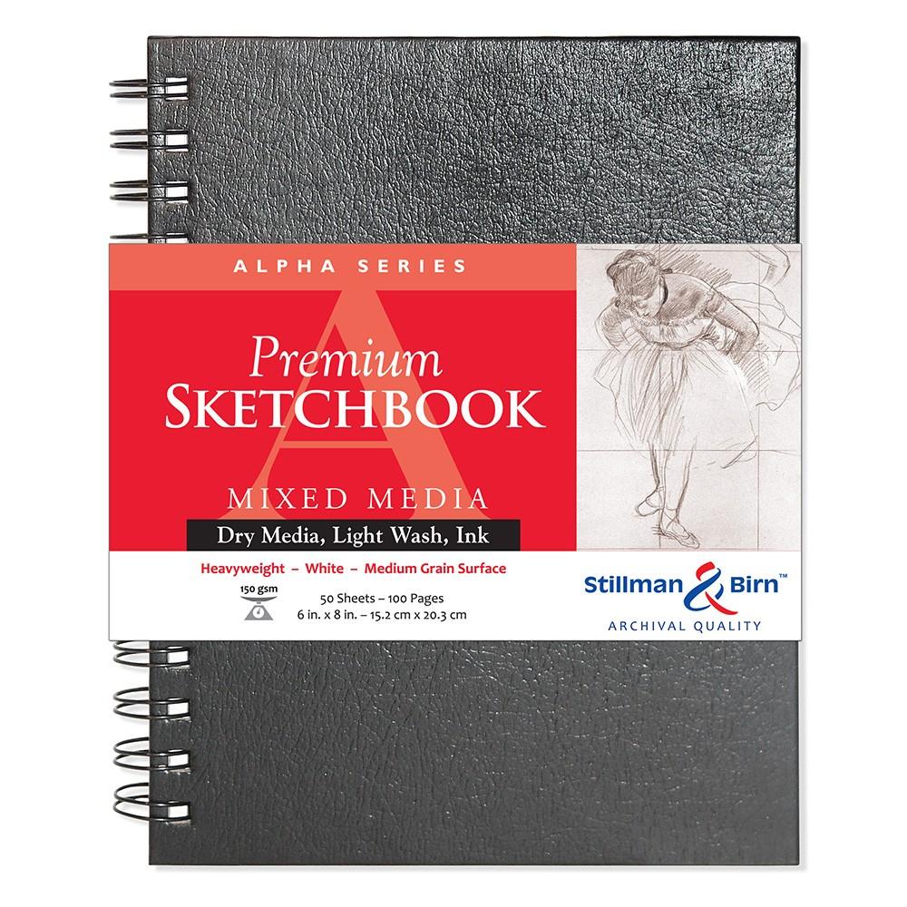 Stillman & Birn : Alpha Sketchbook : 6 x 8in Wirebound 150gsm : Natural White Vellum