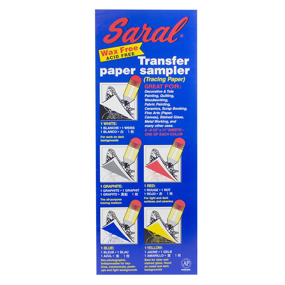 Saral : Transfer Paper : A4 : Assorted Colors : 5 Sheets