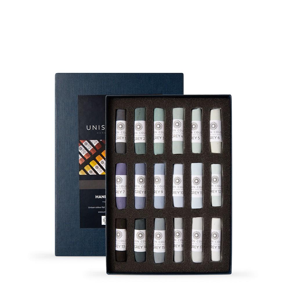 Unison Colour : Soft Pastel : Set of 18 Grey 1-18
