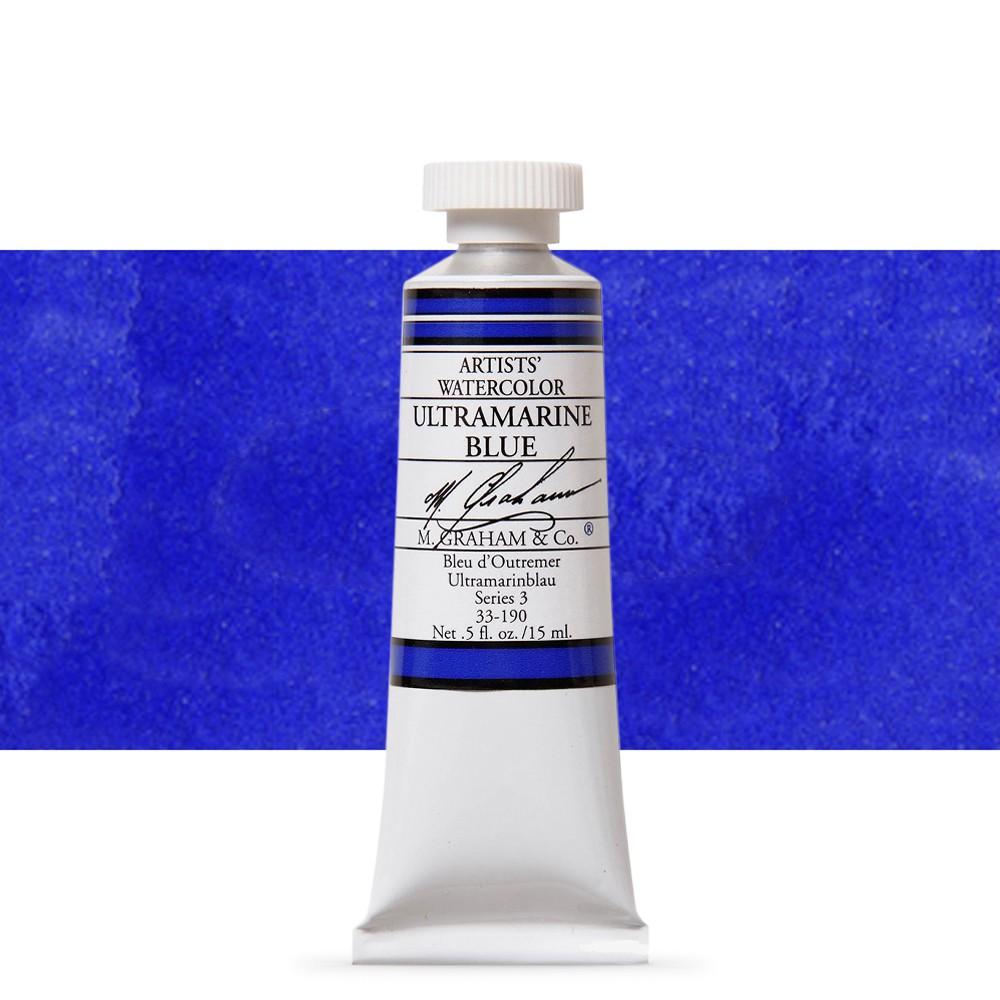 M. Graham : Artists' Watercolor Paint : 15ml : Ultramarine Blue