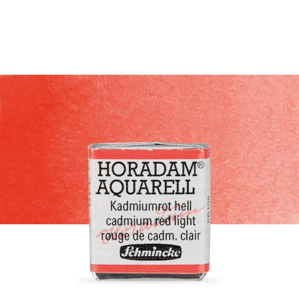 Schmincke : Horadam Watercolor Paint : Half Pan : Cadmium Red Light