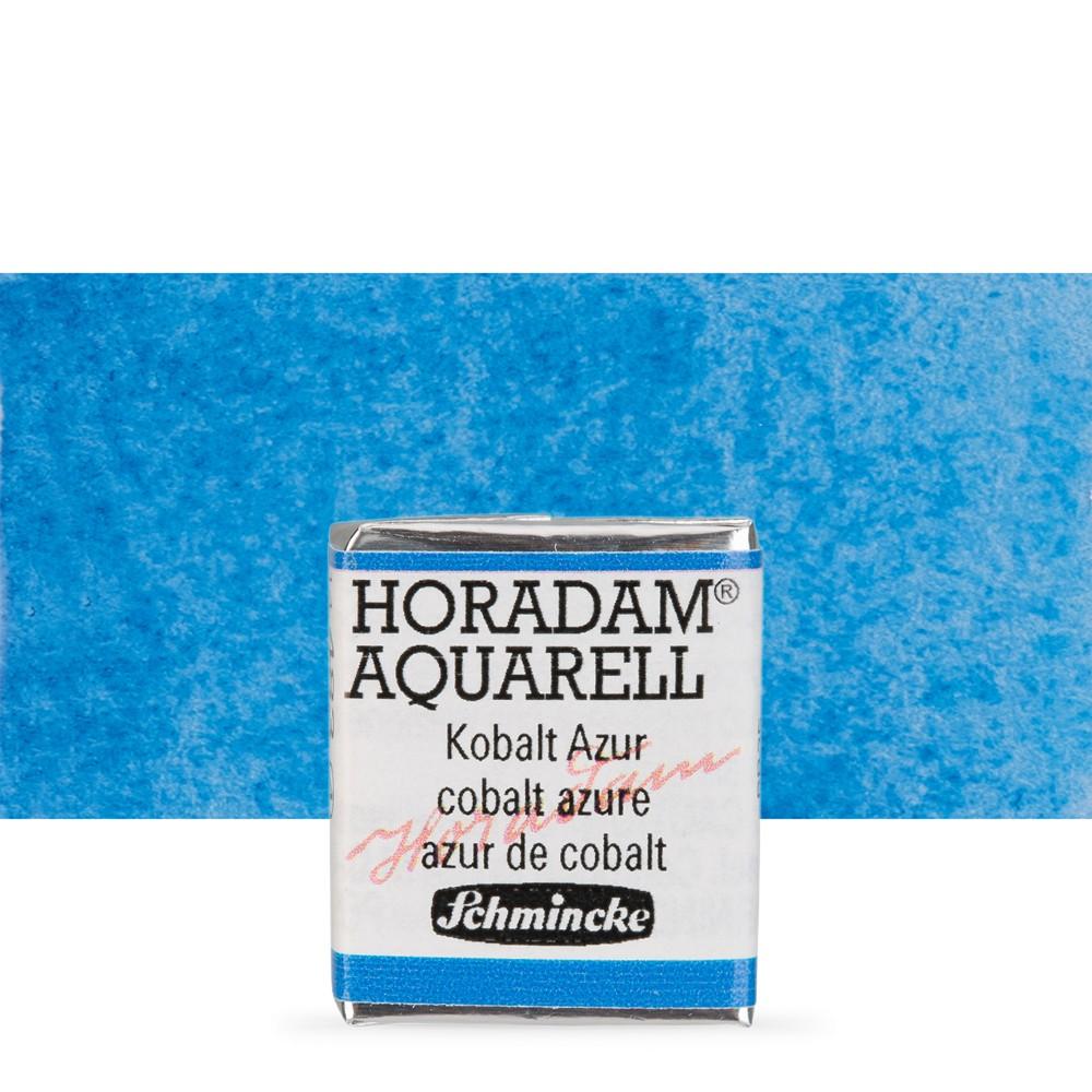 Schmincke : Horadam Watercolor Paint : Half Pan : Cobalt Azure