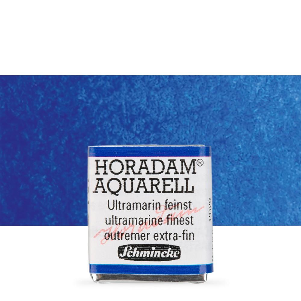 Schmincke : Horadam Watercolor Paint : Half Pan : Ultramarine Finest