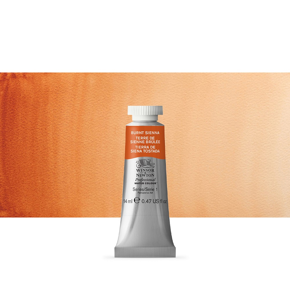 Winsor & Newton : Professional Watercolor : 14ml : Burnt Sienna