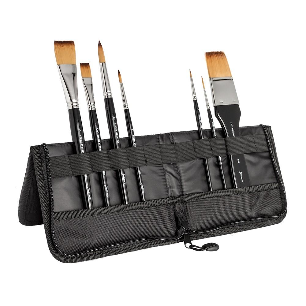 Jackson's : Studio Synthetic Brush Set : Small : Set of 7 Plus Case