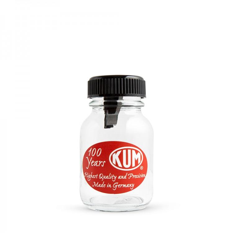 KUM : Glass Jar : Single Hole Metal Pencil Sharpener