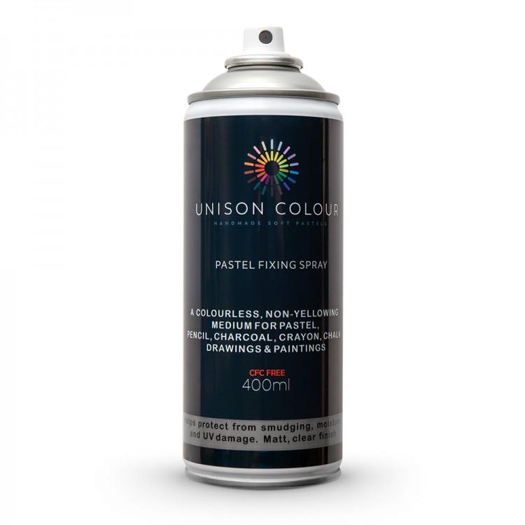 Unison Colour : Pastel Fixing Spray : 400ml : Matt